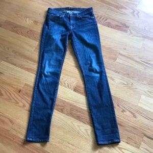 J Brand dark vintage skinny bootcut jeans